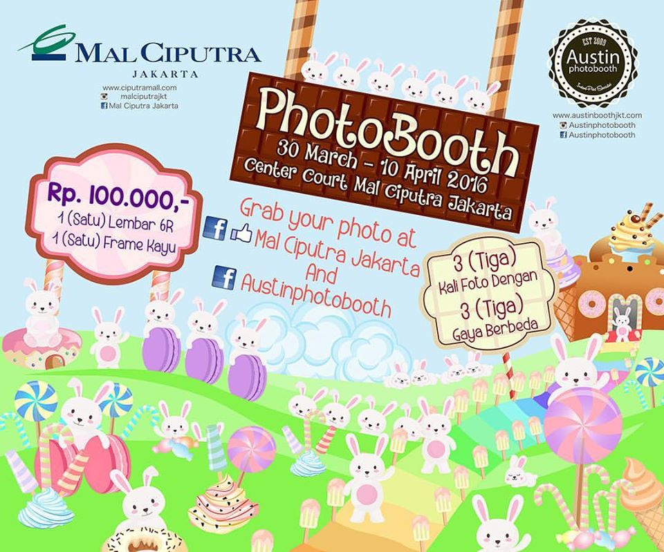 Photobooth at Mal Ciputra Jakarta 30 March – 10 April 2016